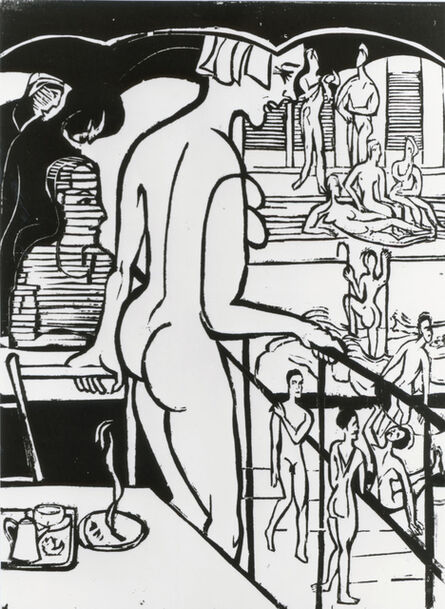 Ernst Ludwig Kirchner, 'Badeanstalt (Public Baths)', 1936