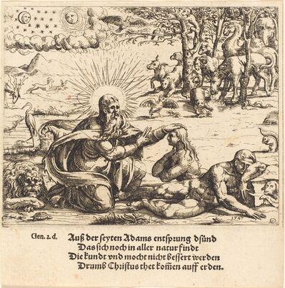 Augustin Hirschvogel, 'Creation of Eve', 1547