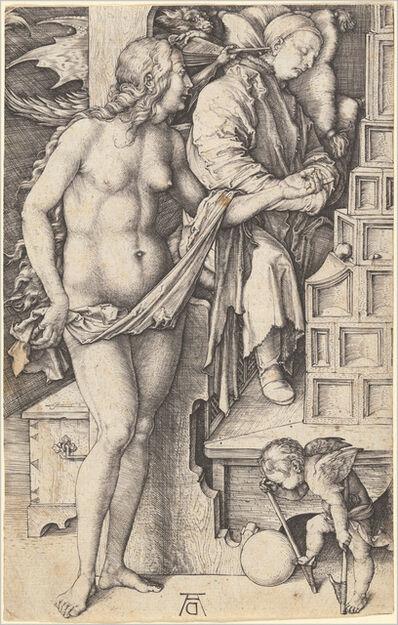 Albrecht Dürer, 'The Dream of the Doctor (Temptation of the Idler)', 1498/1499