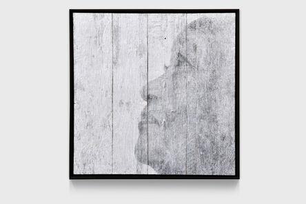 JR, 'The Wrinkles of the City, La Havana, Alicia Adela Hernandez Fernández (artwork by JR, project between JR & José Parlá), ink on wood, Cuba', 2017
