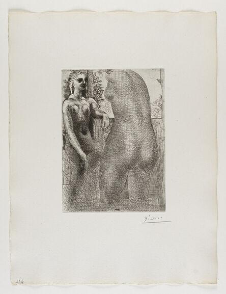 Pablo Picasso, ''Marie-Thérèse regardant son Corps sculpté' from the 'Suite Vollard'', 1933
