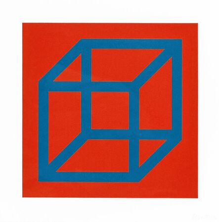 Sol LeWitt, 'Open Cube in Color on Color', 2003