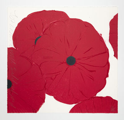 Donald Sultan, 'Red Poppies, March 21, 2012', 2012