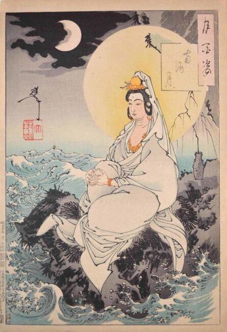 Tsukioka Yoshitoshi, 'Moon of the Southern Sea', 1888