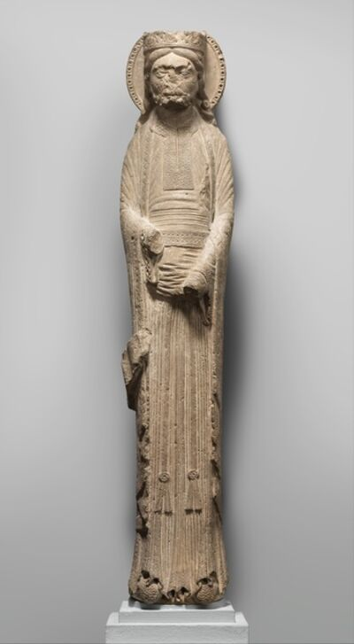 Unknown French, 'Column Statue of a King', ca. 1150–1160