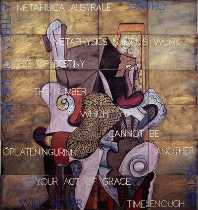 Imants Tillers, ' Time Enough,   152 x 142 cm ', 2017