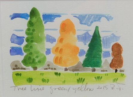 Richard Thompson, 'Tree Line Green / Yellow', 2015
