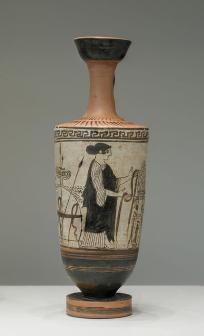 'Attic White-Ground Lekythos', ca. 460 BCE