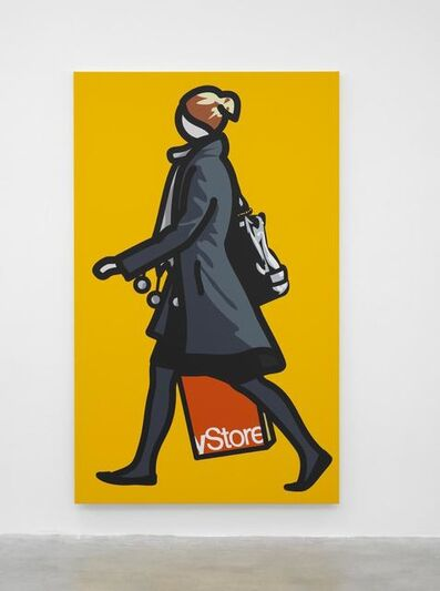 Julian Opie, 'Woman with shopping bag and scarf', 2012