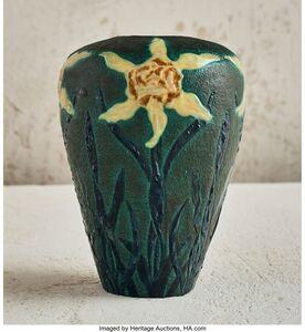 Henri-Leon-Charles Robalbhen, 'Floral Vase', circa 1897-1898