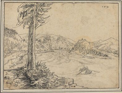 Wolf Huber, 'The Rapids of the Danube near Grein', 1531
