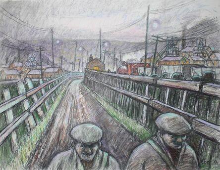Norman Cornish, 'Walking home'