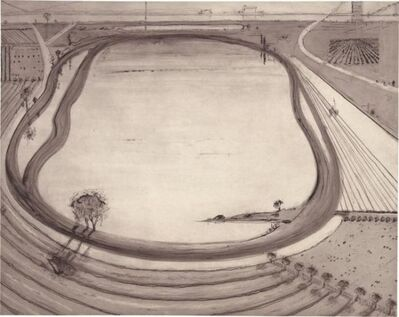 Wayne Thiebaud, 'Reservoir', 2014