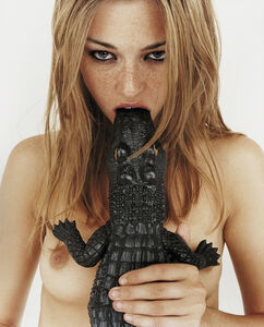 Rankin, 'Stacey - Girl with Croc in Mouth', 1999