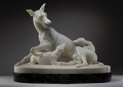 Joseph Gott, 'Greyhound with Puppies', ca. 1825