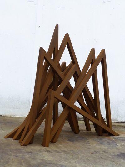 Bernar Venet, '11 Acute inequal angles', 2016