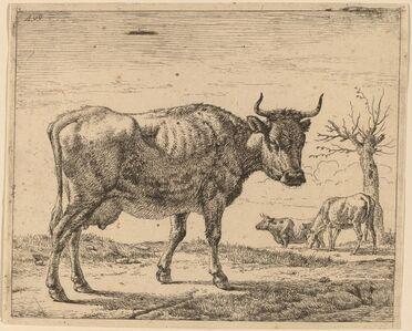 Adriaen van de Velde, 'Three Cows', ca. 1657/1659