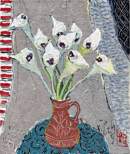 Pang Jiun, 'Vase and Blue Fabric', 2020