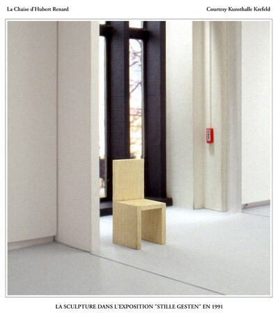 Hubert Renard, 'La Chaise d'Hubert Renard : la sculpture dans l'exposition « Stille Gesten » en 1991', 2020