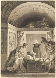 Jean-Louis Delignon and Antoine-Jean Duclos after Jean-Honoré Fragonard, 'La matrone d'Ephese', 1793