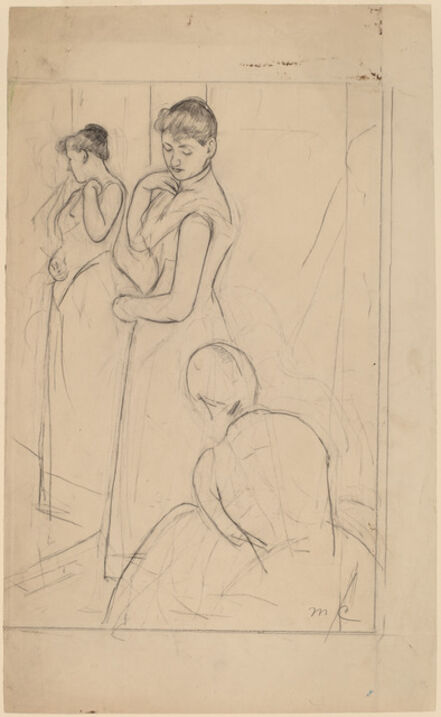 Mary Cassatt, 'The Fitting [recto]', 1890/1891