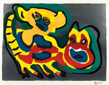 Karel Appel, 'Come Back Pussy Cat', 1974