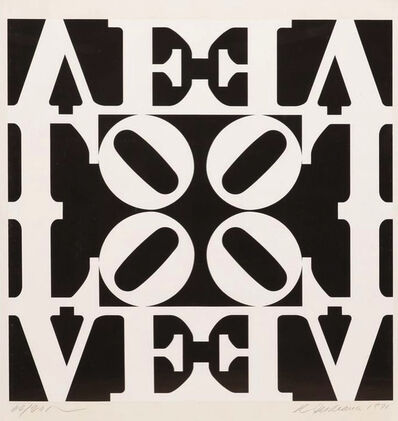 Robert Indiana, 'Love rising, Black and White Love (for Martin Luther King)', 1971