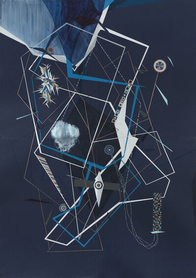 Dannielle Tegeder, 'Nocturnal Blue Machine Plan Universe with Method Angle Codes', 2014