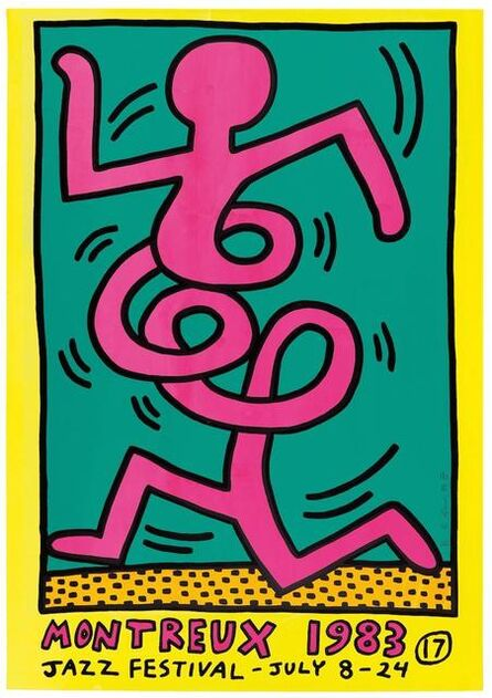 Keith Haring, 'Montreux Jazz Festival (Pink Man)', 1983
