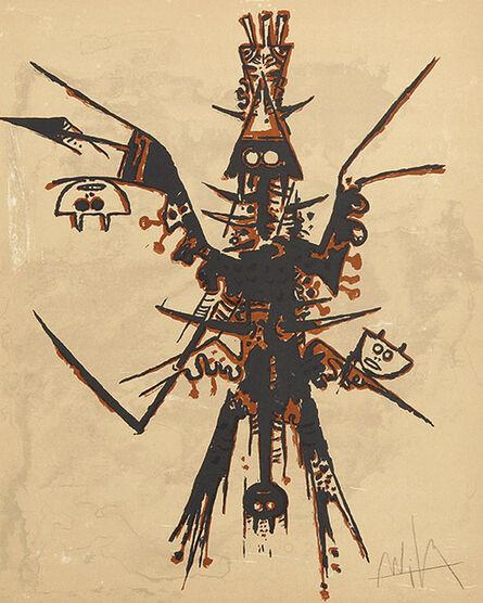 Wifredo Lam, 'Eloge rupestre de Miró', 1973