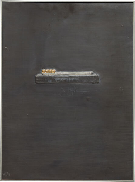 Jasper Johns, 'The Critic Smiles, from Lead Reliefs', 1969