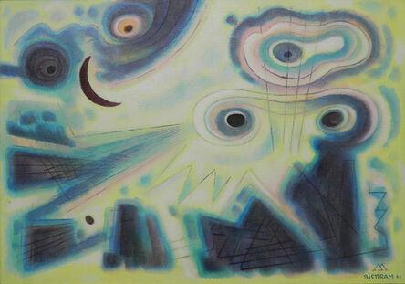 Emil Bisttram, 'Fantasy of the Dark Moon', 1961