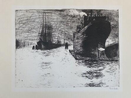 Emil Nolde, 'Hamburg, Reiherstiegdock ( Hamburg Dry Dock )', 1910