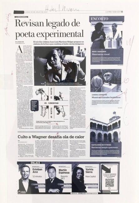 Carlos Amorales, 'Primera Nota Excelsior', 2013