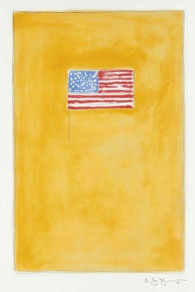 Jasper Johns, 'Flag on Orange', 1998