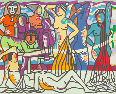 Ajarb Bernard Ategwa, 'Night, our time', 2016