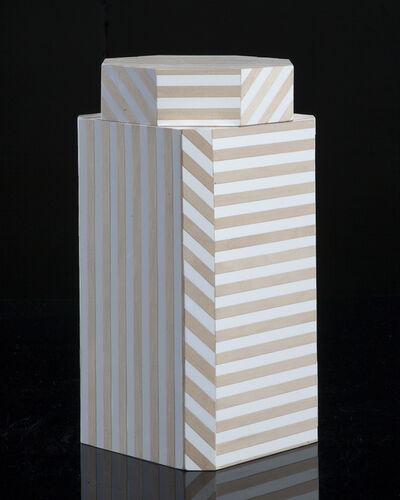 "Oeuffice, '""Ziggurat"" single container, Natural Stripes', 2012"