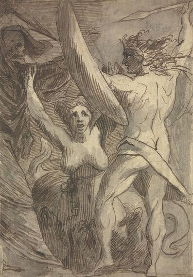 James Barry, 'Satan, Sin and Death: 'Death and Sin met by Satan on his Return from Earth''