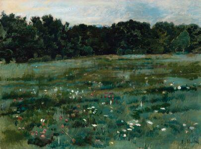 Ferdinand Hodler, 'Landschaft mit Wiese und Waldrand', ca. 1887