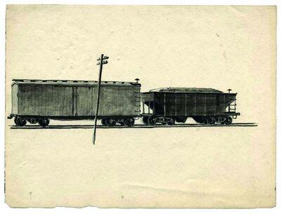 Charles Pollock (1902-1988), 'Railway Cars', ca. 1934