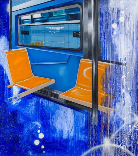 Chris DAZE Ellis, 'Uptown B Train Interior', 2017