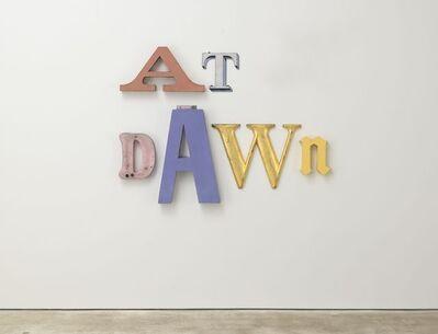 Jack Pierson, 'AT DAWN ', 2016