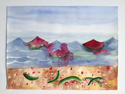 Valerie Hegarty, 'Watermelons and the Sea', 2015
