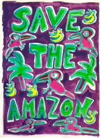 Katherine Bernhardt, 'Save The Amazon (Purple)', 2019