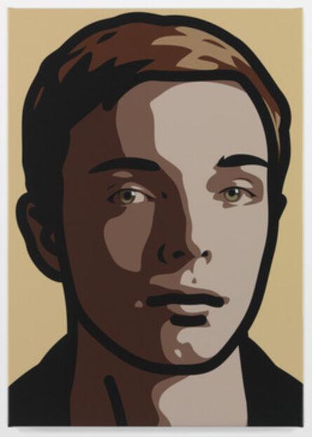 Julian Opie, 'Finn, eyes straight, head left', 2013