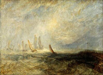 J. M. W. Turner, 'Fishing Boats Bringing a Disabled Ship into Port Ruysdael', 1844