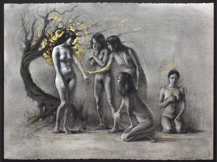Tenaya Sims, 'Shejara (Charcoal and Gold Version)', 2019