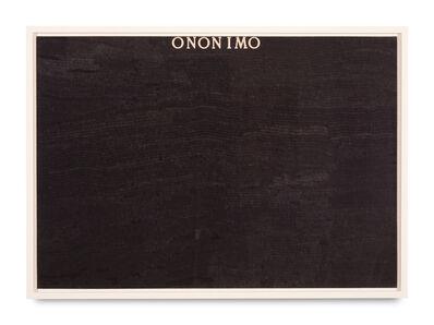 Alighiero Boetti, 'Ononimo', 1975