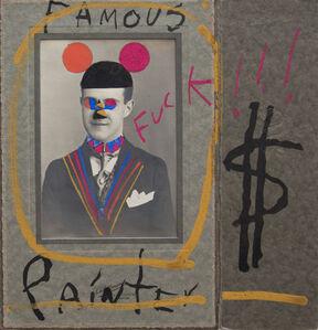 Leobardo Huerta, 'Famous Painter $, Framed Mixed-media vintage photograph intervened by the artist with acrylic paint ', 2019