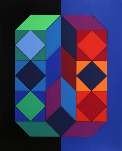 Victor Vasarely, 'VY-29-G from Album Xico', 1973